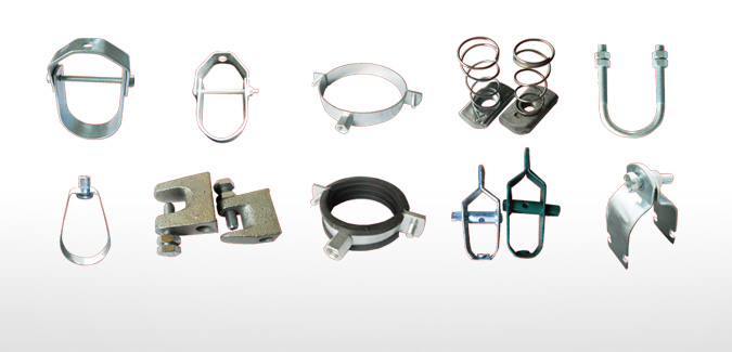 Pipe clamps clips channel fittings beam clamp